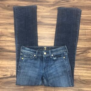 7 for all mankind flynt bootcut jeans size 24